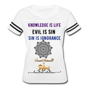 Knowledge is Life   Women's Vintage Sport T-Shirt - white/black
