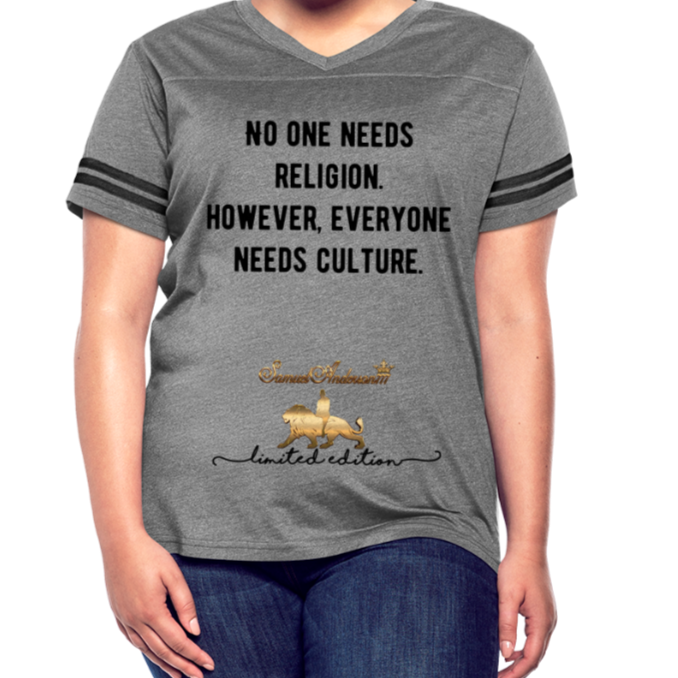 Everyone Needs Culture    Women's Vintage Sport T-Shirt - heather gray/charcoal