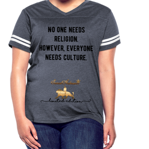 Everyone Needs Culture    Women's Vintage Sport T-Shirt - vintage navy/white