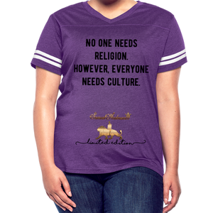 Everyone Needs Culture    Women's Vintage Sport T-Shirt - vintage purple/white