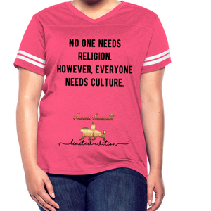 Everyone Needs Culture    Women's Vintage Sport T-Shirt - vintage pink/white