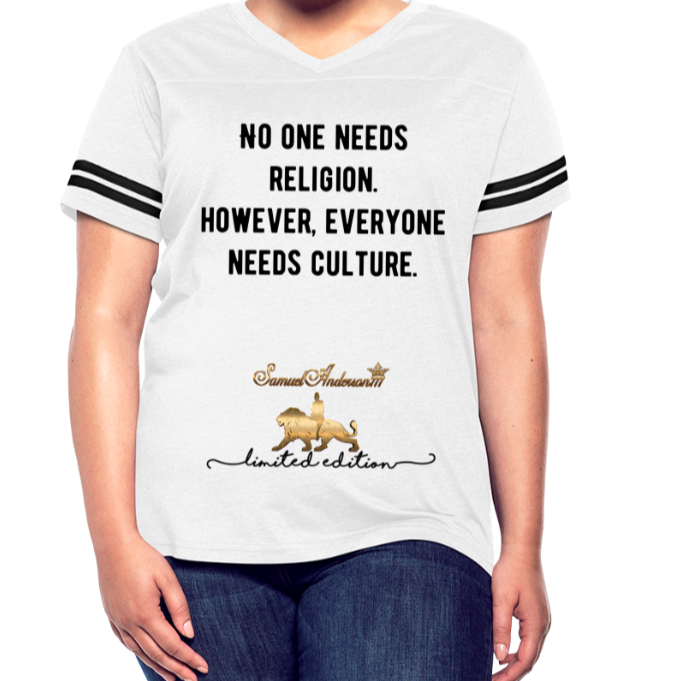 Everyone Needs Culture    Women's Vintage Sport T-Shirt - white/black