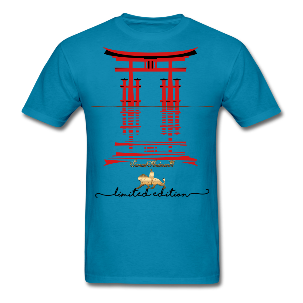 Connected to the Universe  Men's T-Shirt - turquoise
