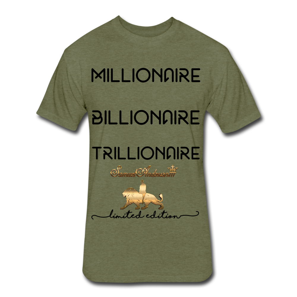 Wealthy Fitted Cotton/Poly T-Shirt by Next Level - heather military green