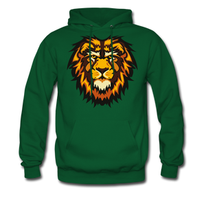 Big Lion Men's Hoodie - forest green