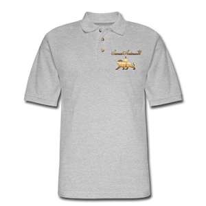 Men's Polo Shirt - heather gray