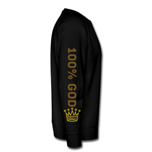 100% God   Men's Premium Sweatshirt - black