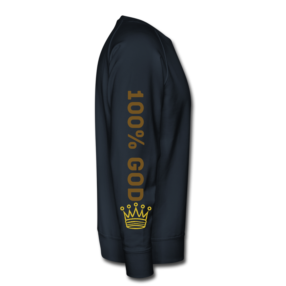 100% God   Men's Premium Sweatshirt - navy