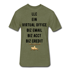 BIZ MINSET  Fitted Cotton/Poly T-Shirt - heather military green