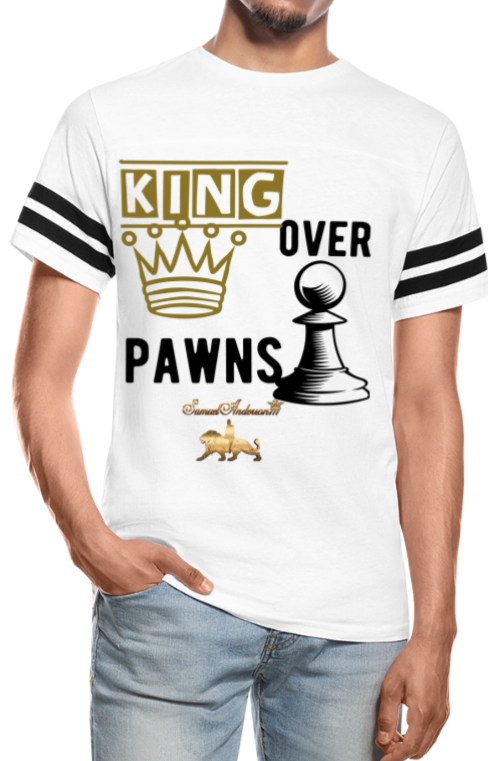 King Over Pawns  Vintage Sport T-Shirt - white/black
