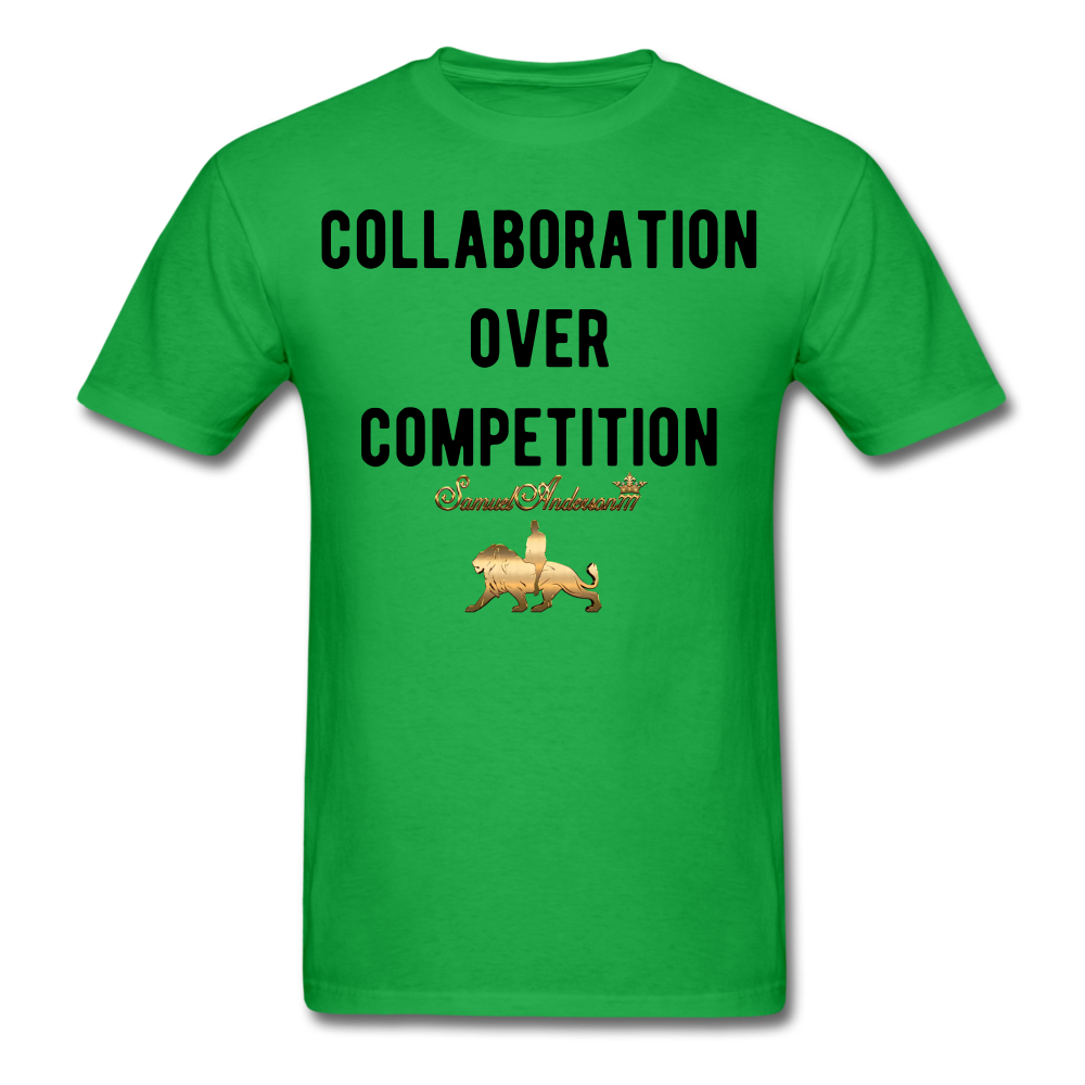 Collaboration Over Competition  Classic T-Shirt - bright green