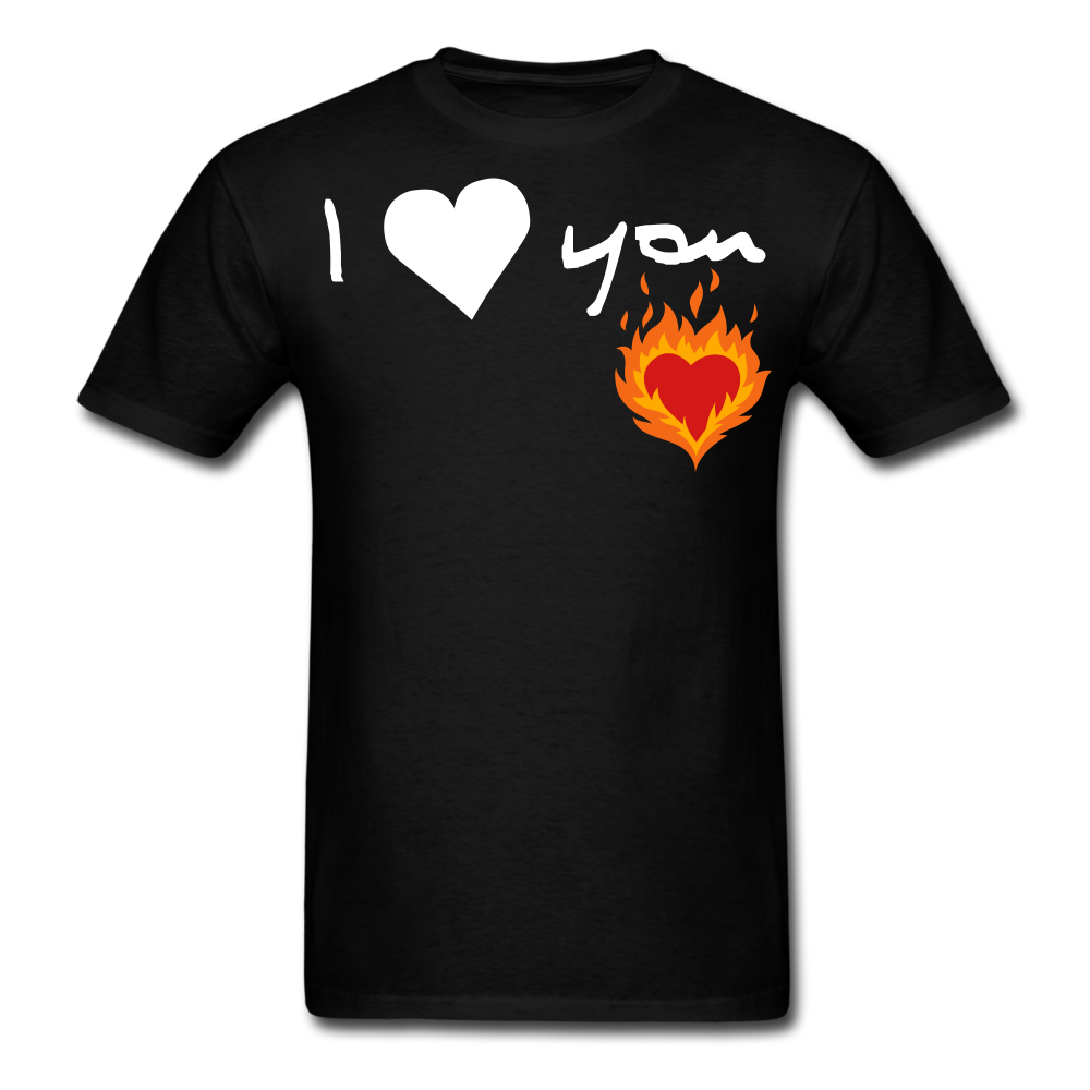 I Love You Men's T-Shirt - black