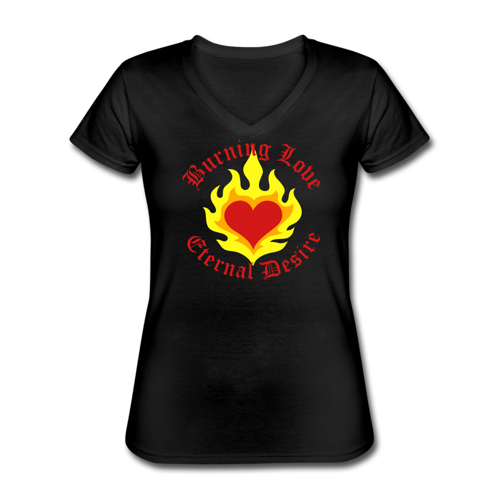 Eternal Love  Women's V-Neck T-Shirt - black