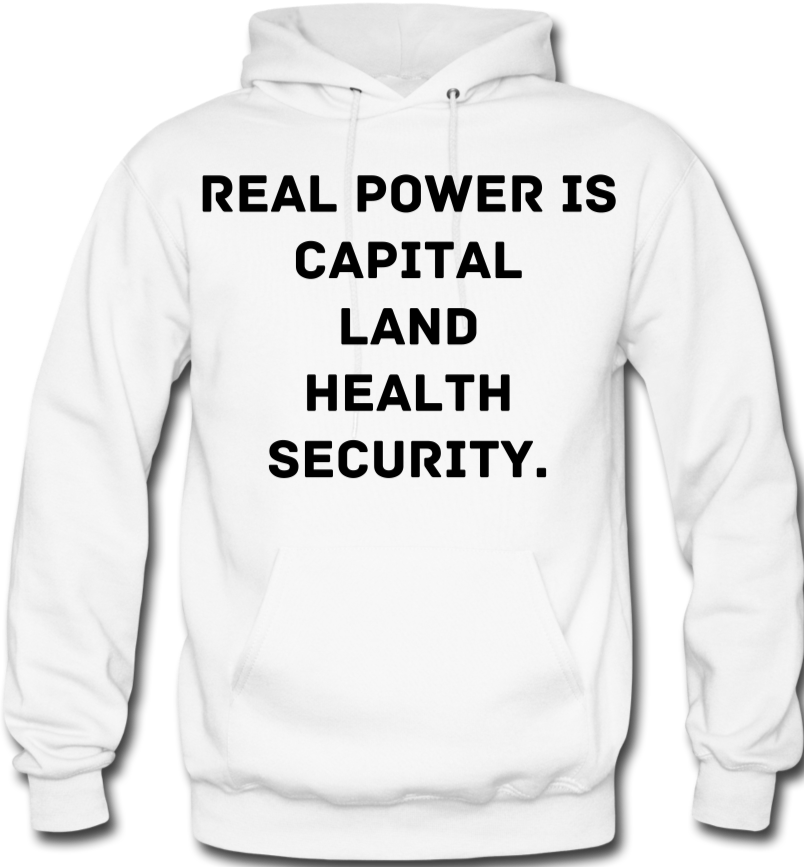 Real Power  Men's Hoodie - white