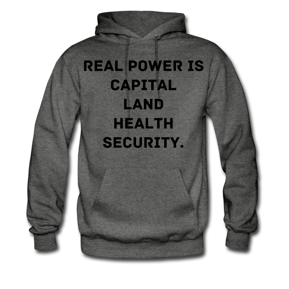 Real Power  Men's Hoodie - charcoal gray
