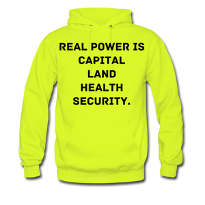 Real Power  Men's Hoodie - safety green