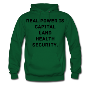 Real Power  Men's Hoodie - forest green