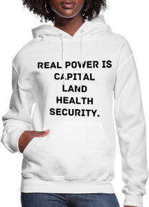 Real Power  Women's Hoodie - white