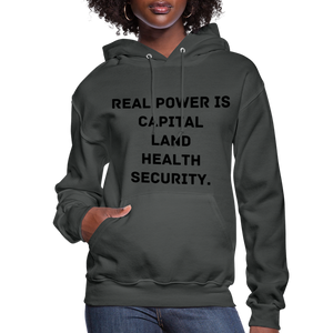 Real Power  Women's Hoodie - asphalt