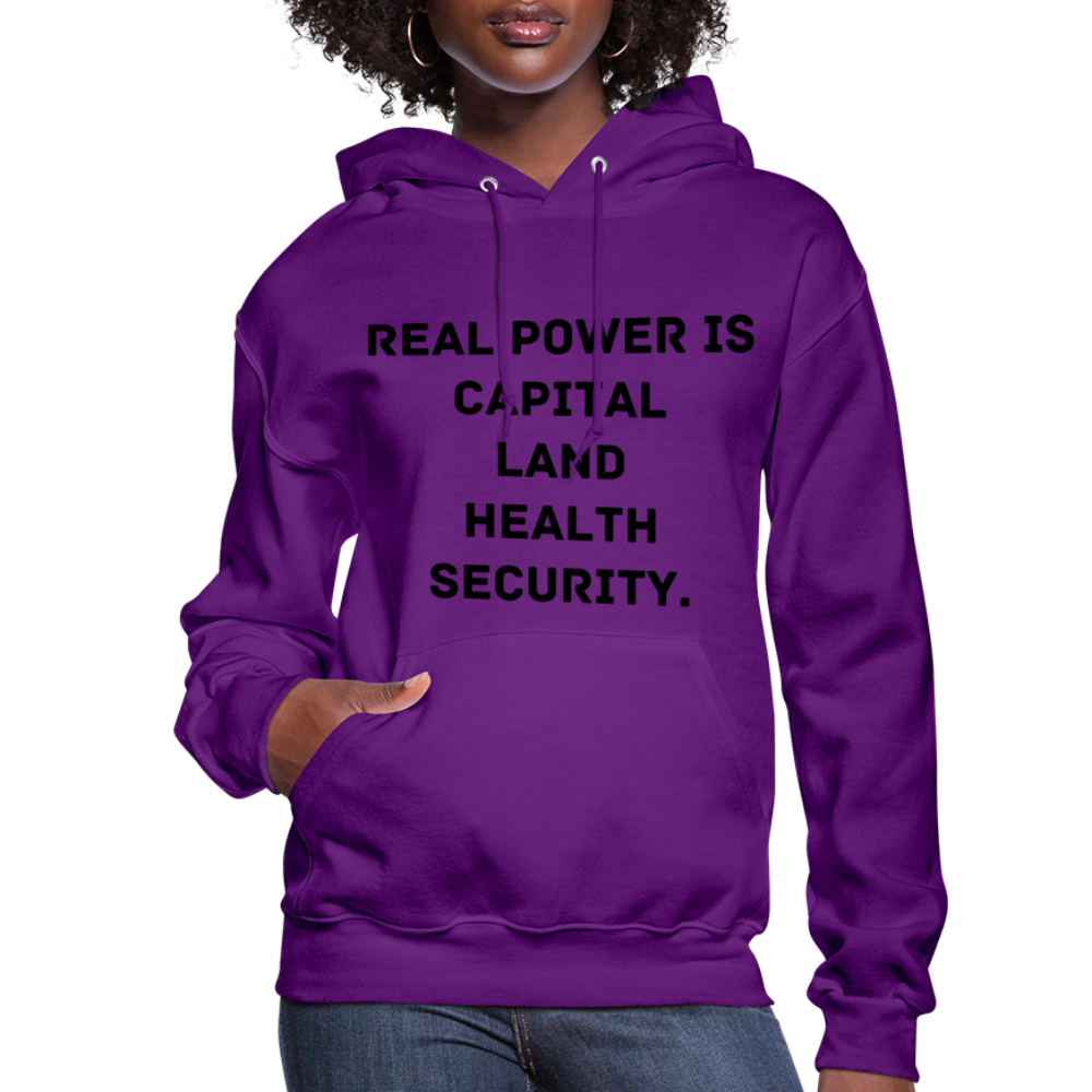 Real Power  Women's Hoodie - purple