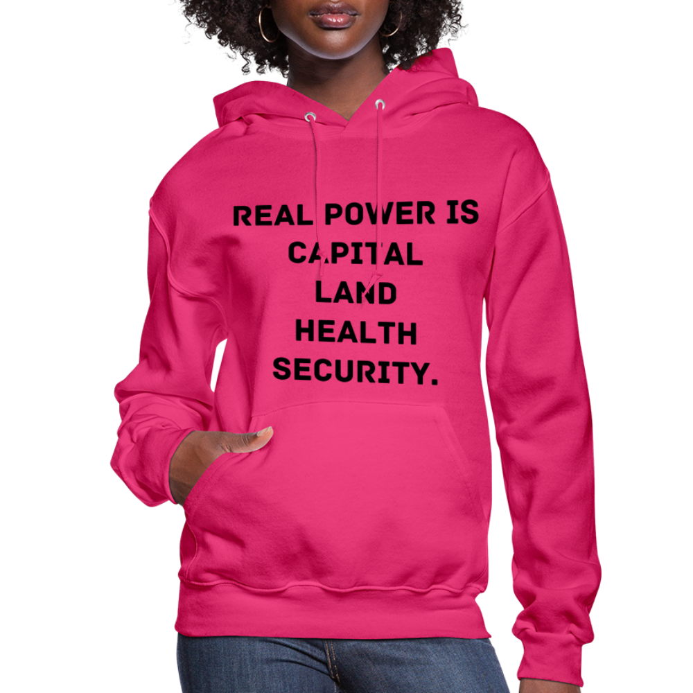 Real Power  Women's Hoodie - fuchsia