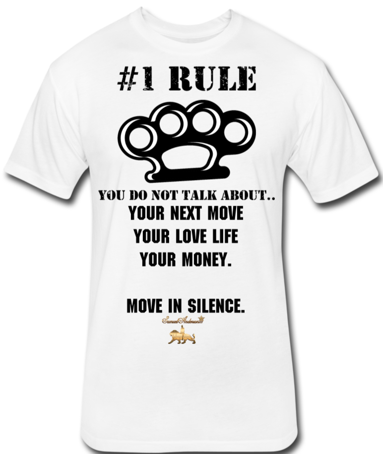#1 Rule Fitted Cotton/Poly T-Shirt - white