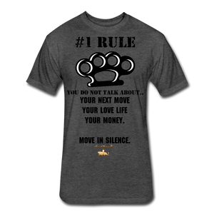 #1 Rule Fitted Cotton/Poly T-Shirt - heather black