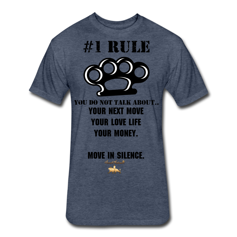 #1 Rule Fitted Cotton/Poly T-Shirt - heather navy