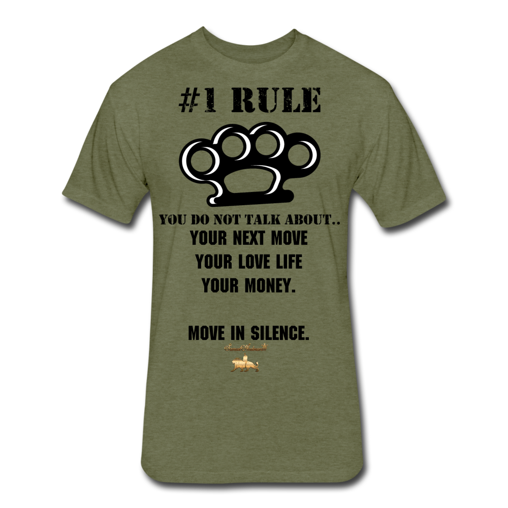 #1 Rule Fitted Cotton/Poly T-Shirt - heather military green