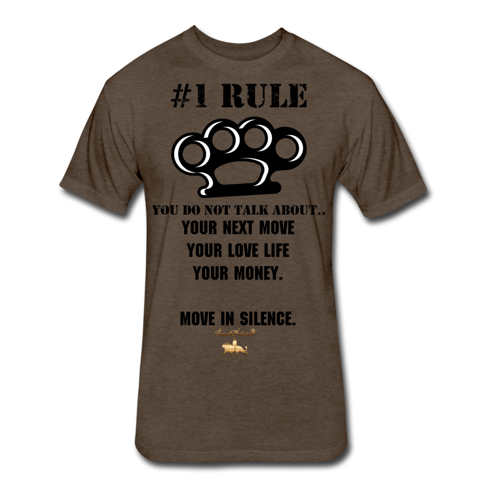 #1 Rule Fitted Cotton/Poly T-Shirt - heather espresso