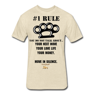 #1 Rule Fitted Cotton/Poly T-Shirt - heather cream