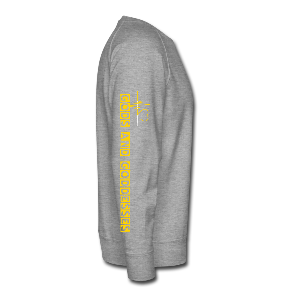 Gods and Goddesses Vibe with Me.  Men's Premium Sweatshirt - heather gray