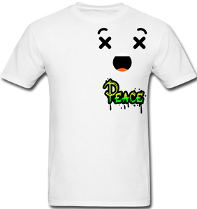 Peace is a Luxury  Men's T-Shirt - white