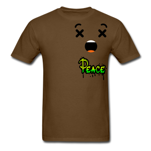 Peace is a Luxury  Men's T-Shirt - brown