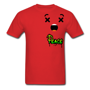Peace is a Luxury  Men's T-Shirt - red