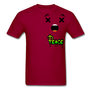 Peace is a Luxury  Men's T-Shirt - dark red