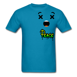 Peace is a Luxury  Men's T-Shirt - turquoise