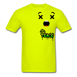 Peace is a Luxury  Men's T-Shirt - safety green