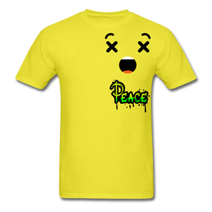 Peace is a Luxury  Men's T-Shirt - yellow