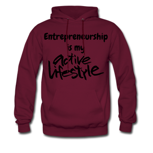 My Active Lifestyle Men's Hoodie - burgundy