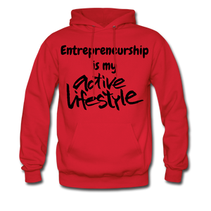My Active Lifestyle Men's Hoodie - red