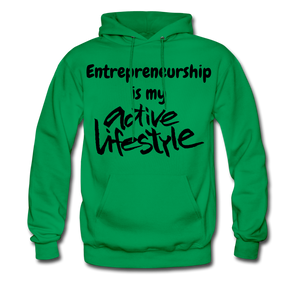 My Active Lifestyle Men's Hoodie - kelly green