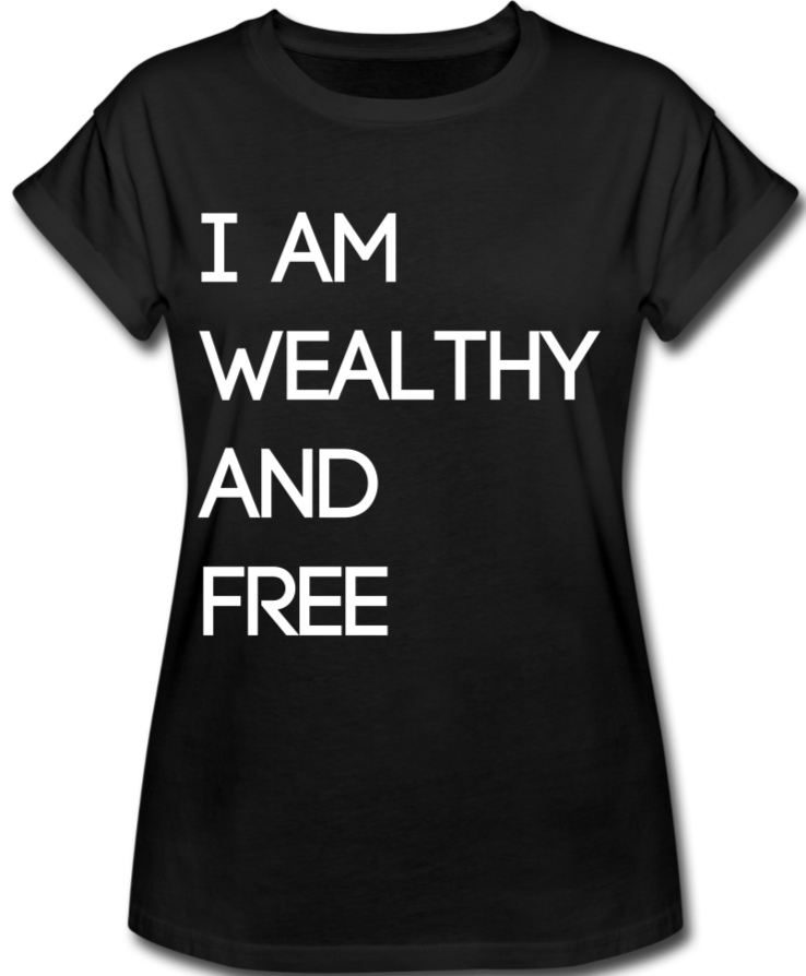 Wealthy and Free Women's Relaxed Fit T-Shirt - black
