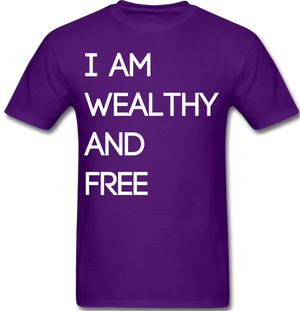 Wealthy and Free Men's T-Shirt - purple