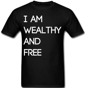 Wealthy and Free Men's T-Shirt - black