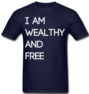 Wealthy and Free Men's T-Shirt - navy