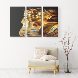 The King in Pure Gold 3-Set Canvas