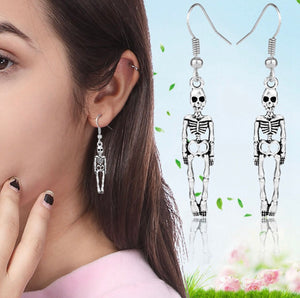 Fashionable skeleton earrings -  Ashe Raven