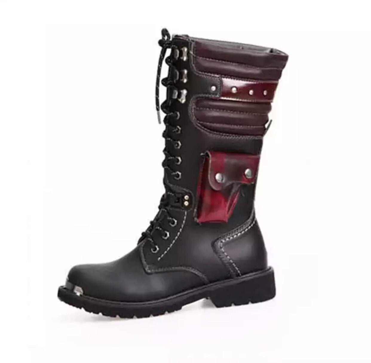 Lace up high combat boots -  Ashe Raven