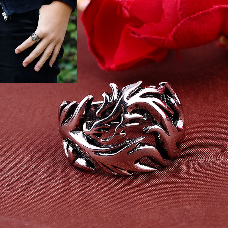 Evil Eye Dragon  Stainless Steel Ring -  Ashe Raven